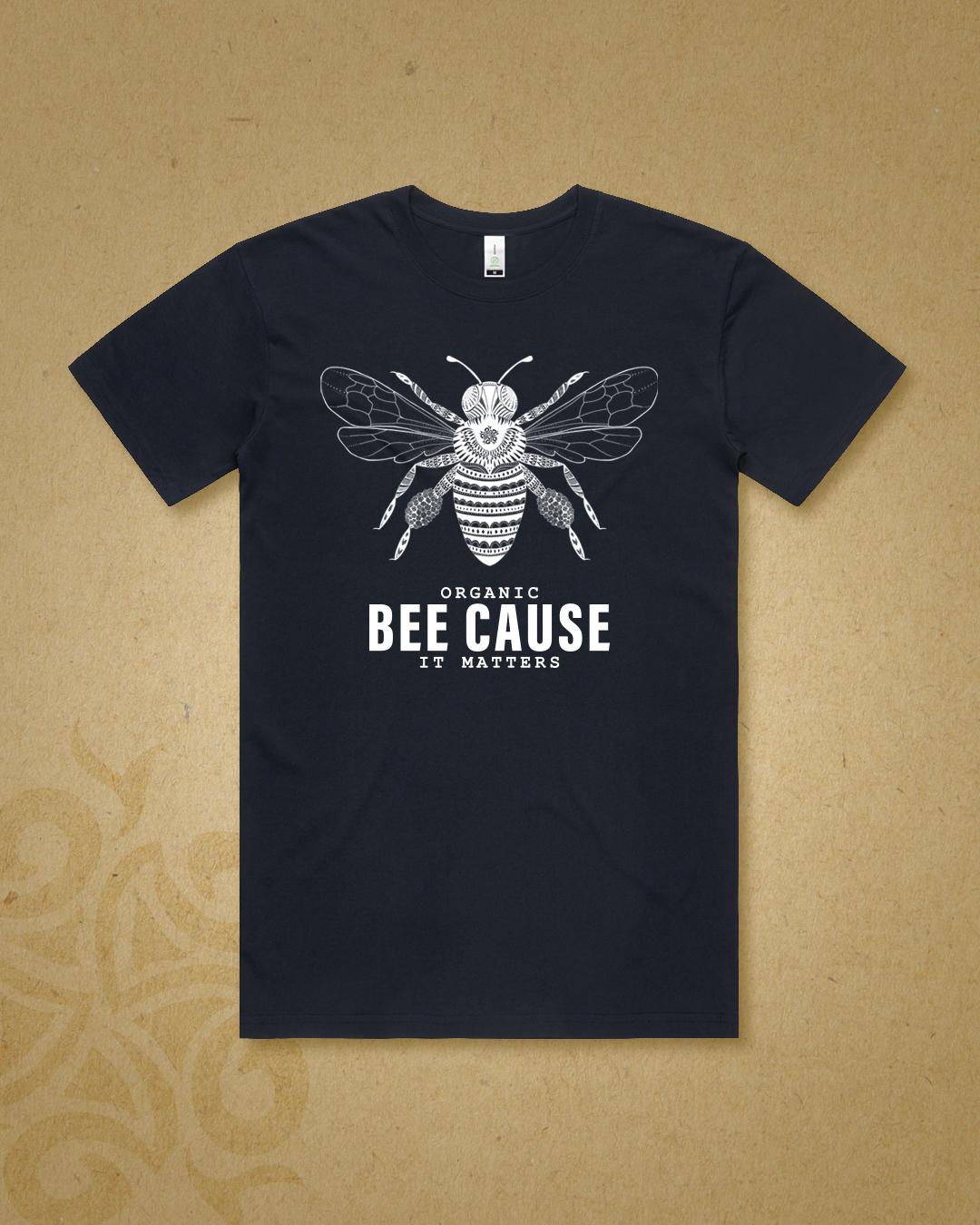 Organic Bee Cause It Matters Tshirt  – Bee**Pre-Order**